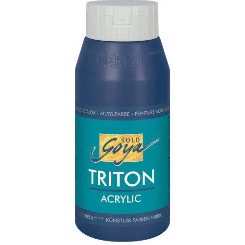 Akrylová barva TRITON SOLO GOYA 750 ml tmavě modrá