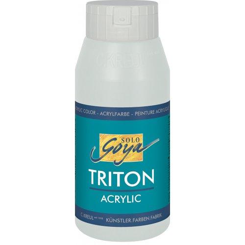 Akrylová barva TRITON SOLO GOYA 750 ml stříbrná