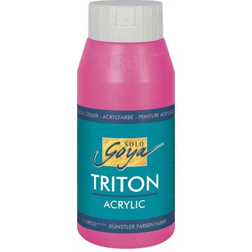 Akrylová barva TRITON SOLO GOYA 750 ml fialovo červená