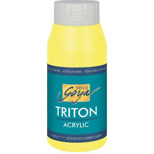 Akrylová barva TRITON SOLO GOYA 750 ml svítící žlutá