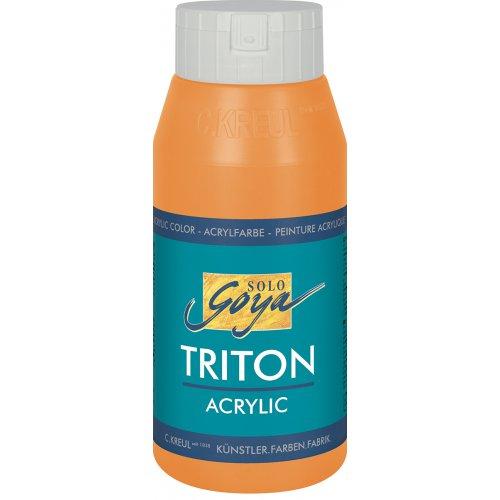 Akrylová barva TRITON SOLO GOYA 750 ml svítící oranžová