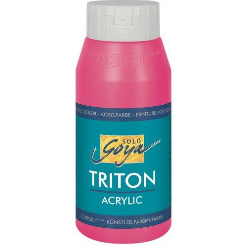 Akrylová barva TRITON SOLO GOYA 750 ml svítící růžová