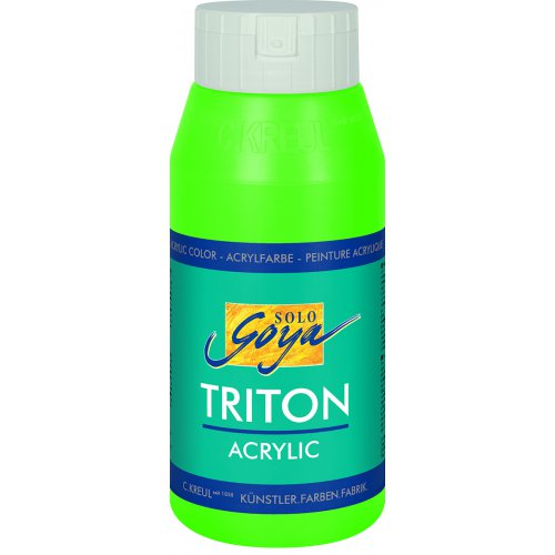 Akrylová barva TRITON SOLO GOYA 750 ml svítící zelená