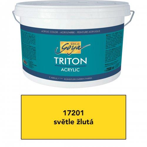 Akrylová barva TRITON SOLO GOYA 2500 ml světle žlutá