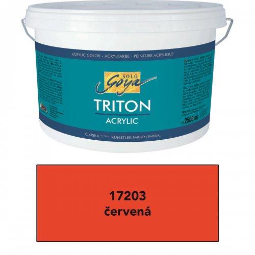Akrylová barva TRITON SOLO GOYA 2500 ml červená