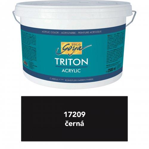 Akrylová barva TRITON SOLO GOYA 2500 ml černá