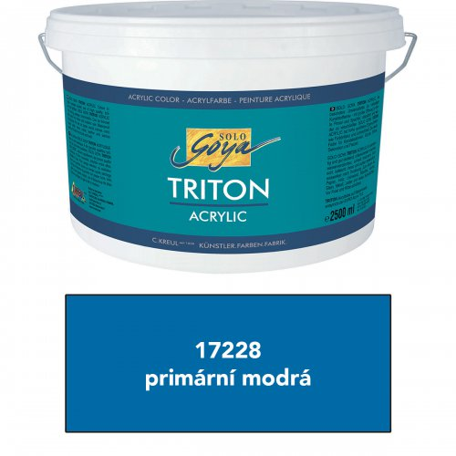 Akrylová barva TRITON SOLO GOYA 2500 ml primární modrá