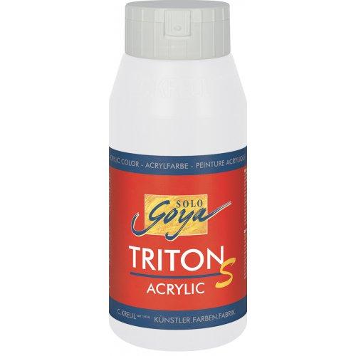 Akrylová barva TRITON SOLO GOYA LESK EFEKT 750 ml bílá