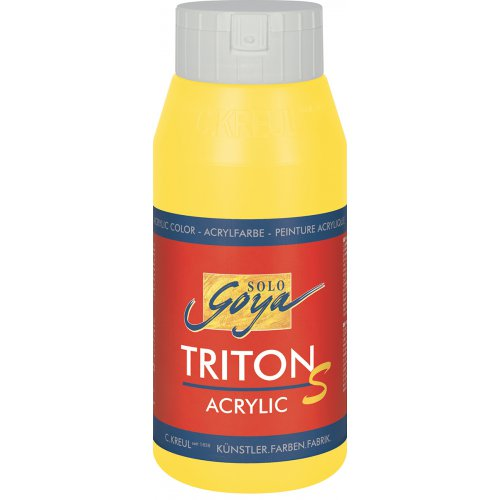 Akrylová barva TRITON SOLO GOYA LESK EFEKT 750 ml světle žlutá