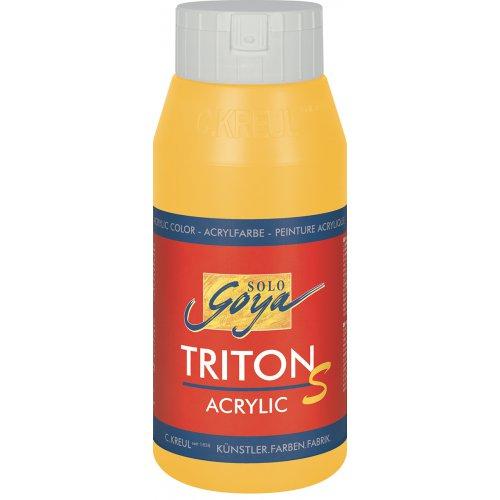 Akrylová barva TRITON SOLO GOYA LESK EFEKT 750 ml žlutá kukuřice