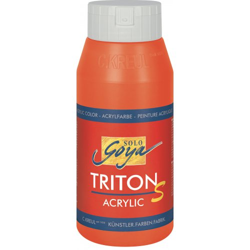 Akrylová barva TRITON SOLO GOYA LESK EFEKT 750 ml červená