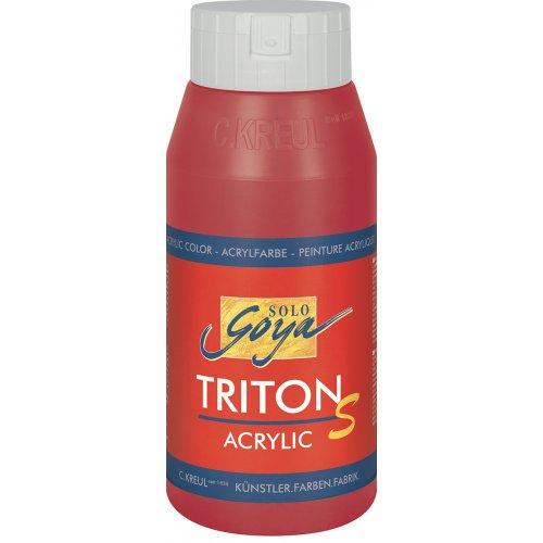 Akrylová barva TRITON SOLO GOYA LESK EFEKT 750 ml karmínová