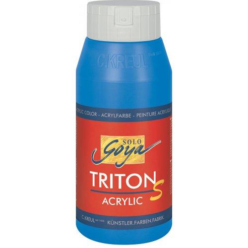 Akrylová barva TRITON SOLO GOYA LESK EFEKT 750 ml primární modrá
