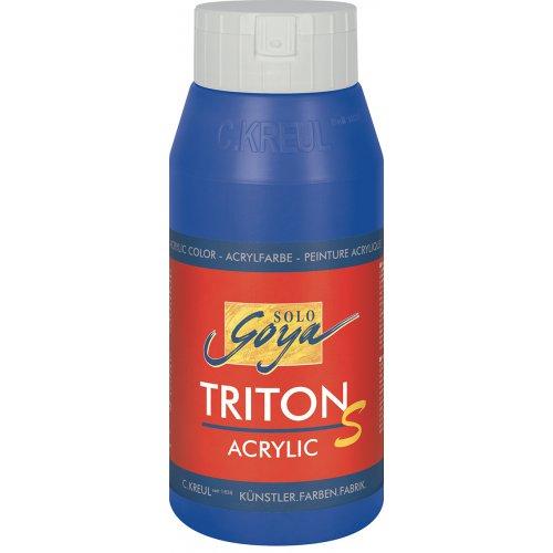Akrylová barva TRITON SOLO GOYA LESK EFEKT 750 ml ultramarínová modrá