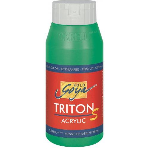 Akrylová barva TRITON SOLO GOYA LESK EFEKT 750 ml pernamentní zelená