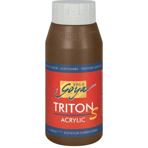Akrylová barva TRITON SOLO GOYA LESK EFEKT 750 ml hnědá havana