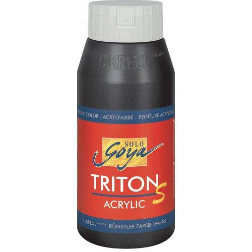 Akrylová barva TRITON SOLO GOYA LESK EFEKT 750 ml černá