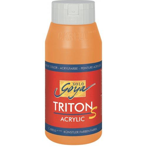 Akrylová barva TRITON SOLO GOYA LESK EFEKT 750 ml oranžová