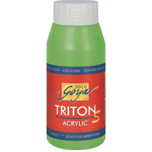 Akrylová barva TRITON SOLO GOYA LESK EFEKT 750 ml žlutozelená