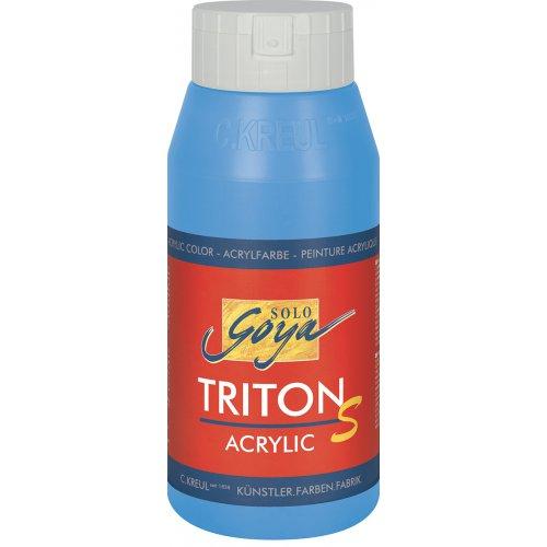 Akrylová barva TRITON SOLO GOYA LESK EFEKT 750 ml světle modrá