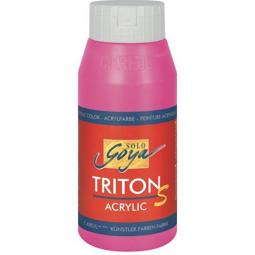 Akrylová barva TRITON SOLO GOYA LESK EFEKT 750 ml fialovo červená