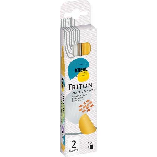 Sada Paint Marker TRITON SOLO GOYA 1-4 mm stříbrná + zlatá