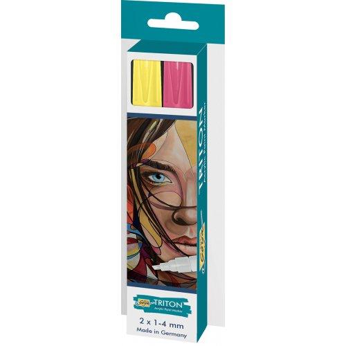 Sada Paint Marker TRITON SOLO GOYA 1-4 mm svítící žlutá + svítící zelená
