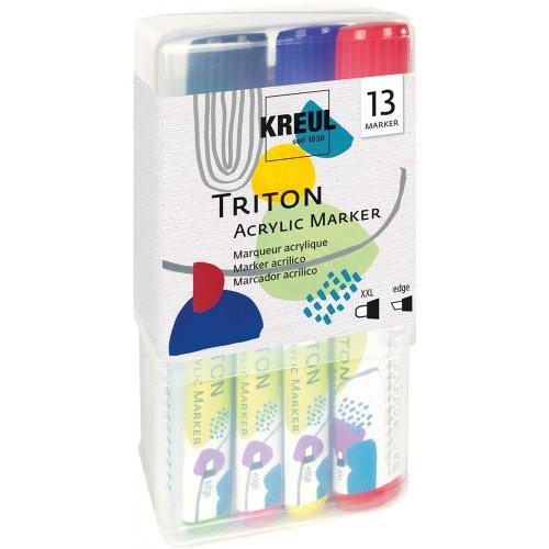Sada akrylový fix TRITON KREUL XXL + edge POWERPACK