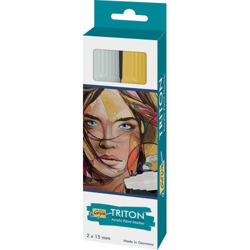 Sada Paint Marker TRITON SOLO GOYA 15 mm stříbrná + zlatá