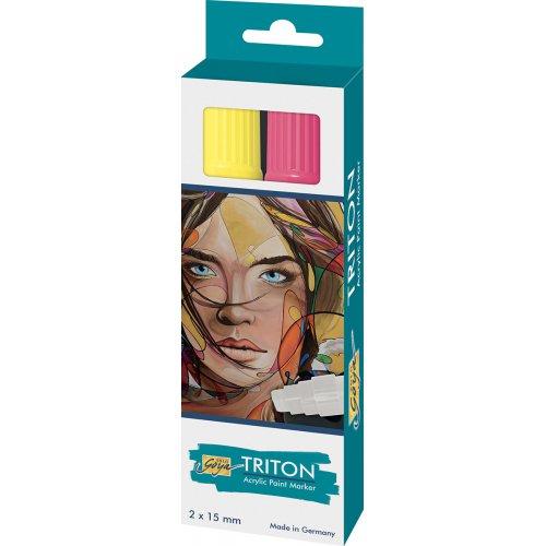 Sada Paint Marker TRITON SOLO GOYA 15 mm svítící žlutá + svítící zelená