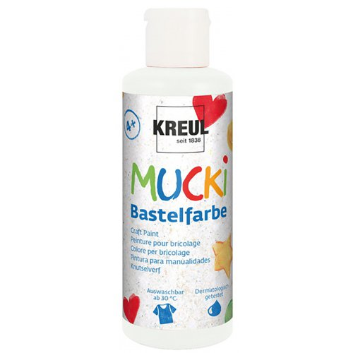 Vodová barva tekutá MUCKI bílá 80 ml