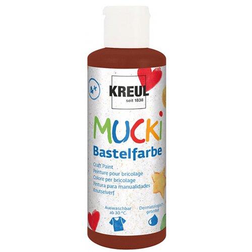 Vodová barva tekutá MUCKI hnědá 80 ml