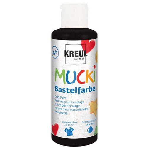 Vodová barva tekutá MUCKI černá 80 ml