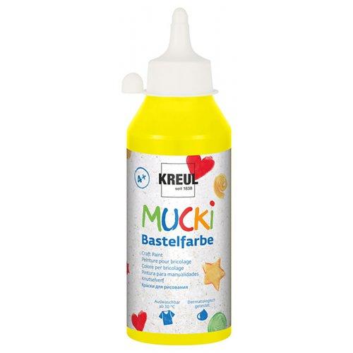Vodová barva tekutá MUCKI žlutá 250 ml