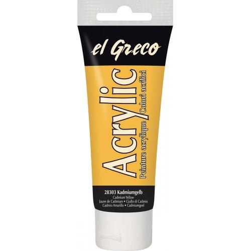 Akrylová barva EL GRECO kadmium žlutá 75 ml