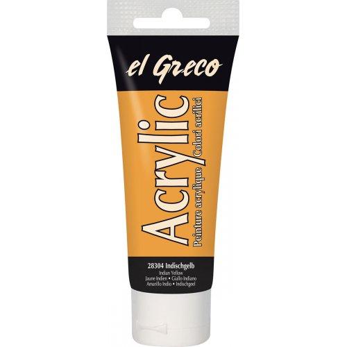 Akrylová barva EL GRECO indiánská žlutá 75 ml