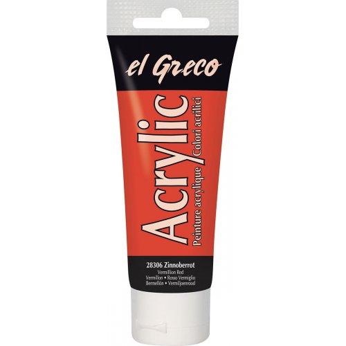 Akrylová barva EL GRECO 75 ml rumělková červená