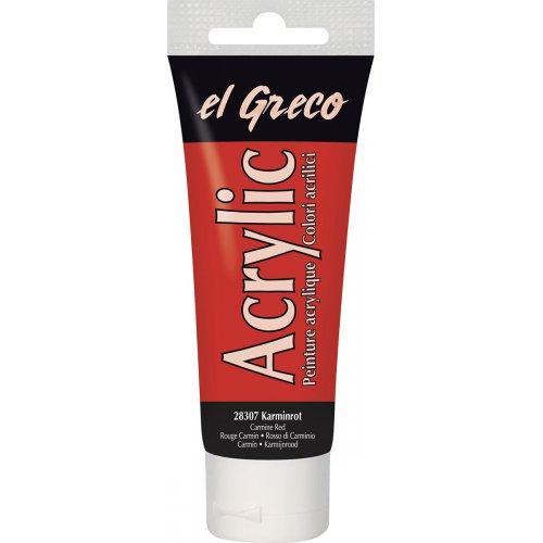 Akrylová barva EL GRECO 75 ml karmínová