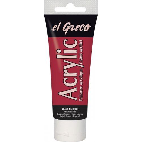 Akrylová barva EL GRECO červená Madder 75 ml