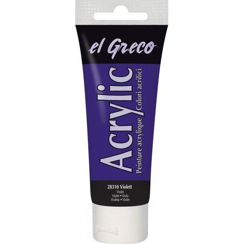 Akrylová barva EL GRECO fialová 75 ml