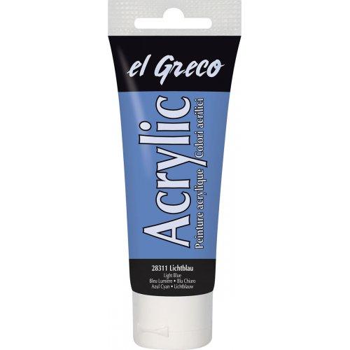 Akrylová barva EL GRECO 75 ml světle modrá