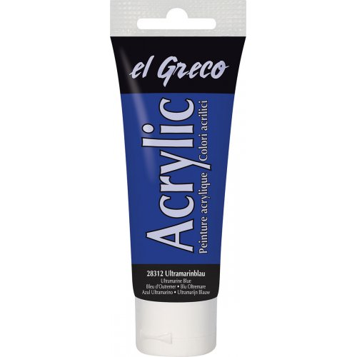 Akrylová barva EL GRECO ultramarínová modrá 75 ml