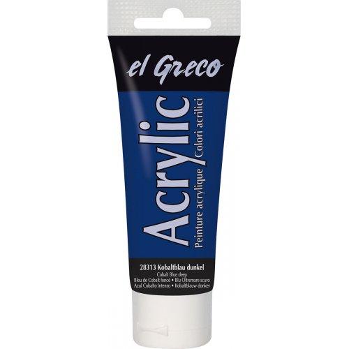 Akrylová barva EL GRECO tmavá kobalt modrá 75 ml