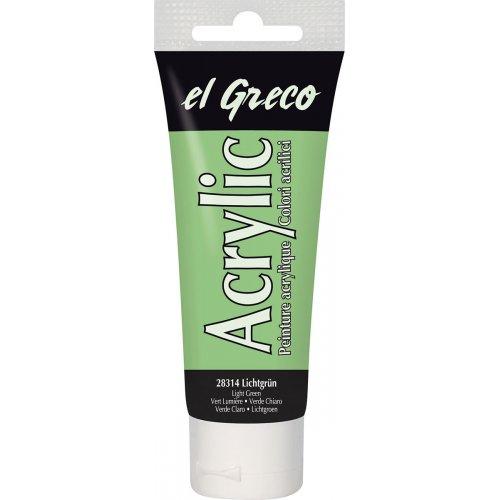 Akrylová barva EL GRECO 75 ml světle zelená