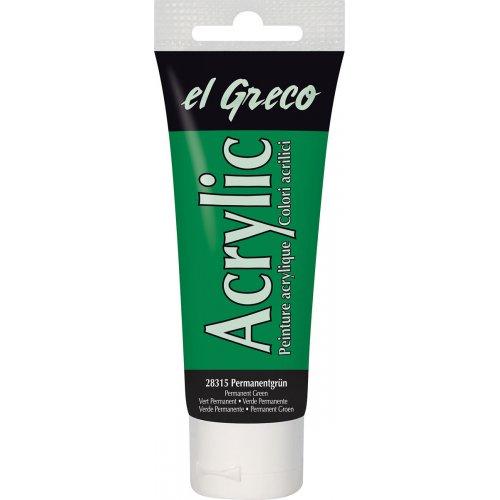 Akrylová barva EL GRECO permanentní zelená 75 ml