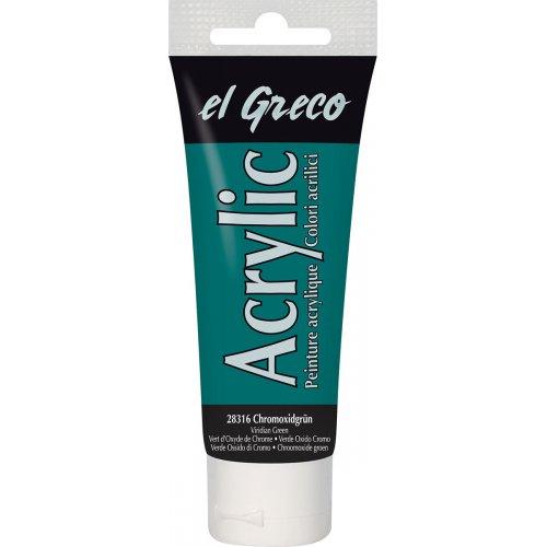 Akrylová barva EL GRECO viridian zelená 75 ml