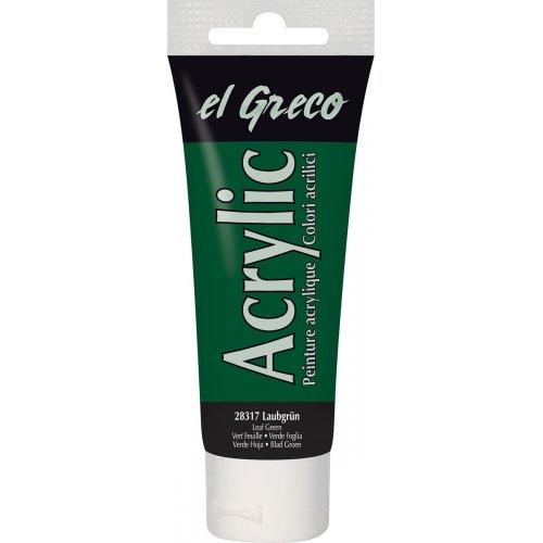 Akrylová barva EL GRECO listová zelená 75 ml