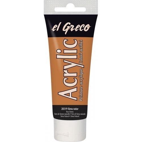 Akrylová barva EL GRECO 75 ml raw sienna