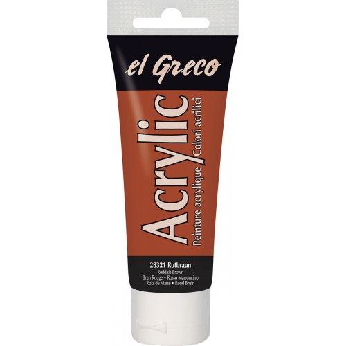 Akrylová barva EL GRECO nazrzlá hnědá 75 ml
