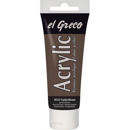 Akrylová barva EL GRECO 75 ml Vandyke hnědá
